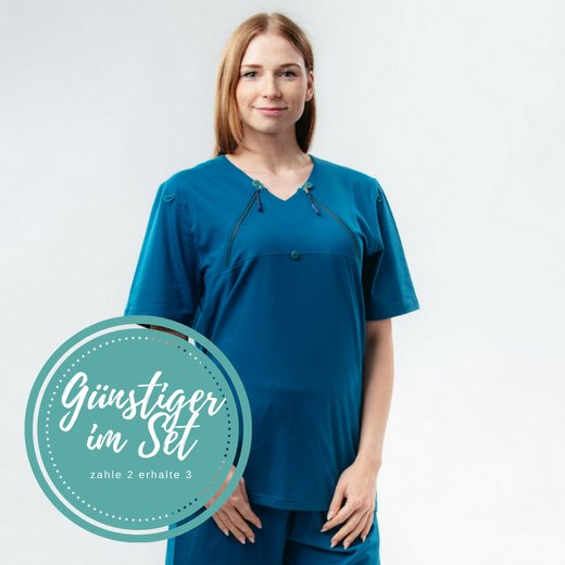 Damen T-Shirt Brustöffnung 3er Set
